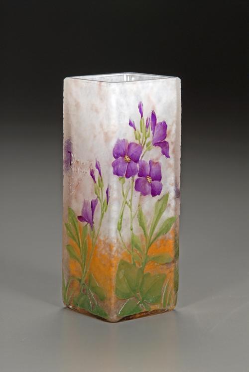 ドーム ムラサキハナナ文花瓶